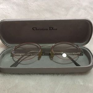 5037ec825d Dior Accessories - Christian Dior wire frame pearl glasses and case